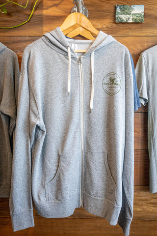 Hoodie (Zip-Up) - Heather Grey
