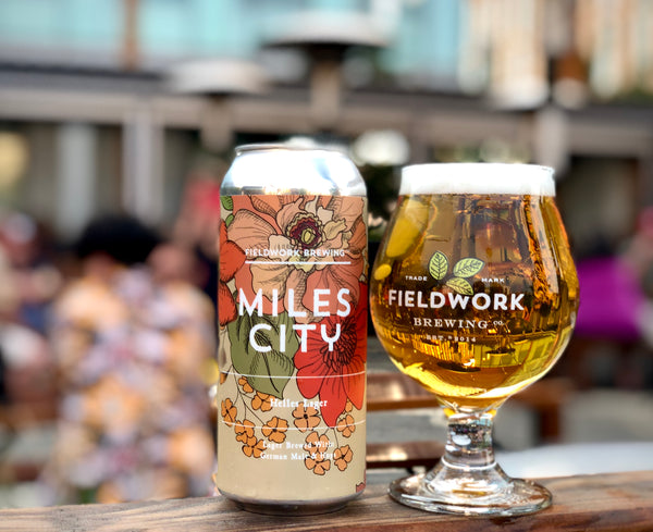 Miles City Helles Lager - 4 Pack of 16 oz Cans