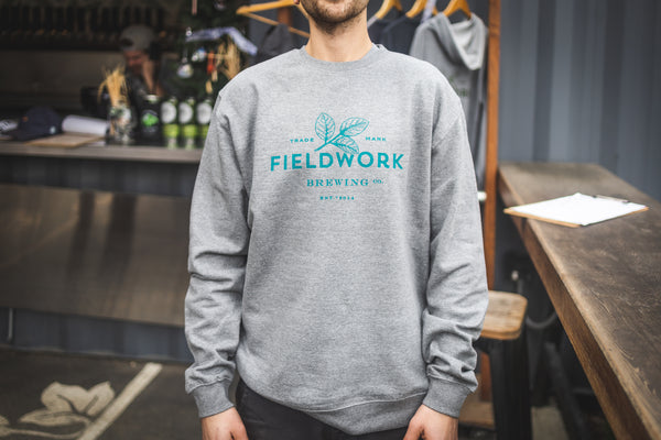Crew Sweater (Unisex) - Grey/Teal