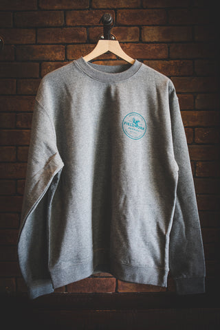 Grey/Teal Small Logo Crewneck Sweatshirt