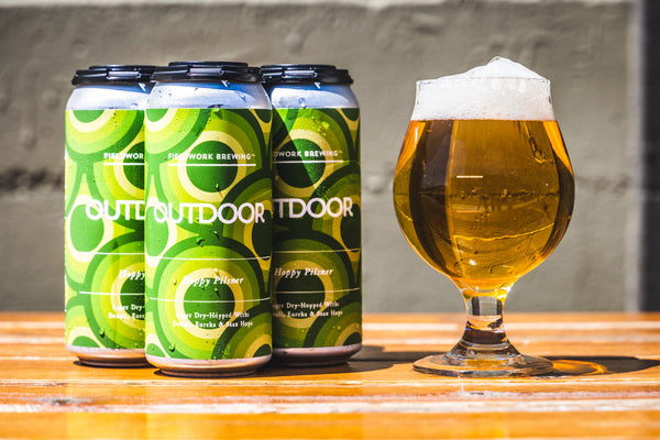 Outdoor Hoppy Pilsner - 4 Pack of 16oz Cans