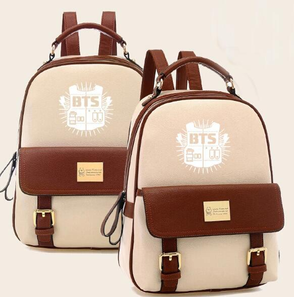 BTS Leather School Backpack