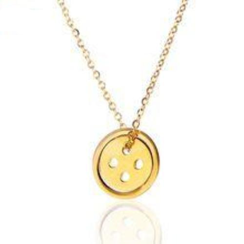 button pendant lucky jewels ashley products gold rose