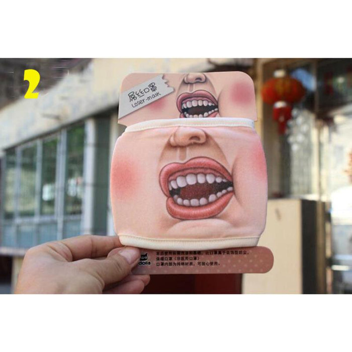 Funny Face Cotton Mask - KD Connection Official Merchandise Store