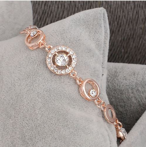 18K Rose Gold Plated Chain Link Bracelet - KD Connection Official Merchandise Store
