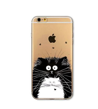 Black and White Kitty Cat Phone Case - KD Connection Official Merchandise Store