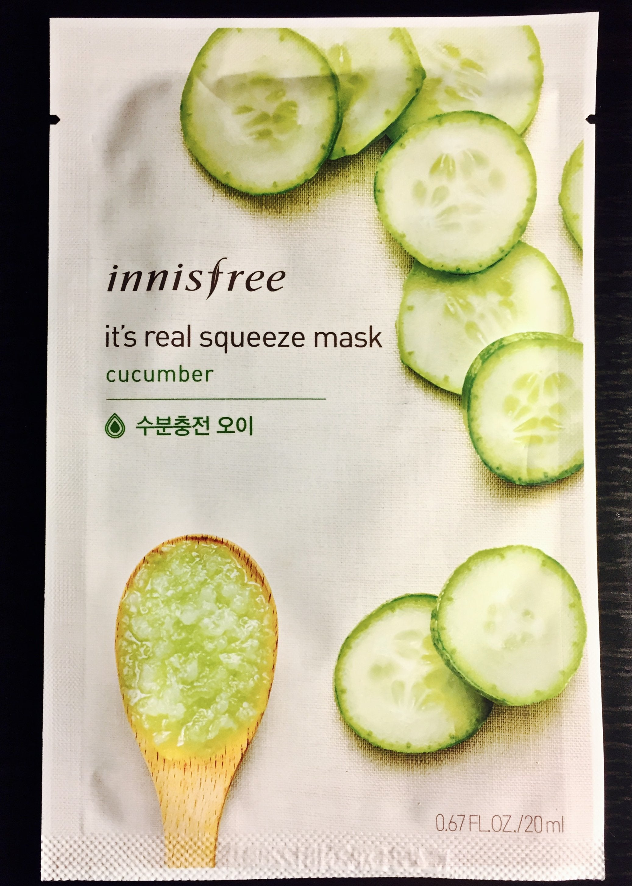 Innisfree It's Real Squeeze Mask: Cucumber - KD Connection Official Merchandise Store