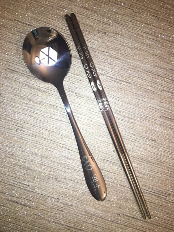 Custom EXO Chopstick and Spoon Set - KD Connection Official Merchandise Store