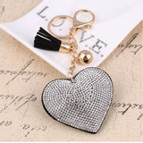 Crystal Rhinestone Heart Keychain - KD Connection Official Merchandise Store