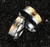 Silver and Gold Couples Ring-Pair - KD Connection Official Merchandise Store