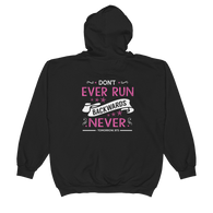 """Don't Ever Run Backwards Never"" BTS Zip Up Comfy Hoodie"