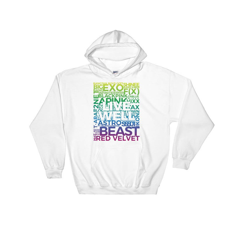"""Live Well"" Group Unisex Hooded Sweatshirt - KD Connection Official Merchandise Store"
