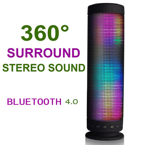USB DC 5V Surround Stereo Sound Portable Recharging Wireless Sound LED lights Bluetooth Speaker - KD Connection Official Merchandise Store