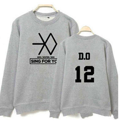 EXO Grey Women's Sweatshirt - KD Connection Official Merchandise Store