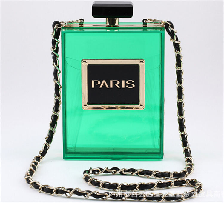 Paris Perfume Bottle Clutch w/ Should Strap - KD Connection Official Merchandise Store