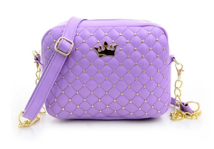 Quilted Studded Crossbody w/ Crown Embelm - KD Connection Official Merchandise Store