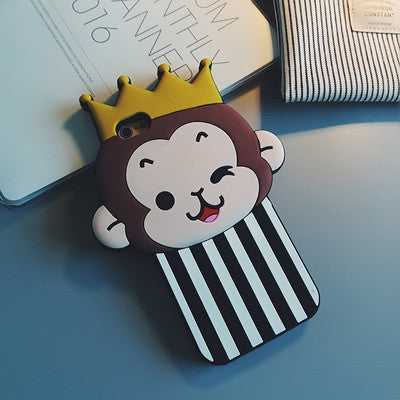 3D Cartoon Monkey iPhone Phone Case - KD Connection Official Merchandise Store