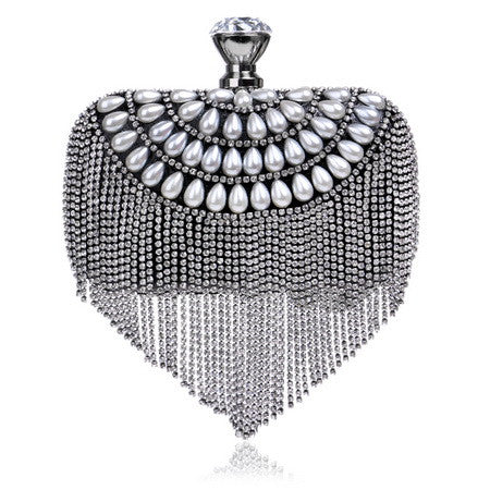 Rhinestone Tassel Evening Clutch - KD Connection Official Merchandise Store