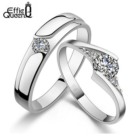 Effie Queen Couple Ring Set w/ CZZ - KD Connection Official Merchandise Store