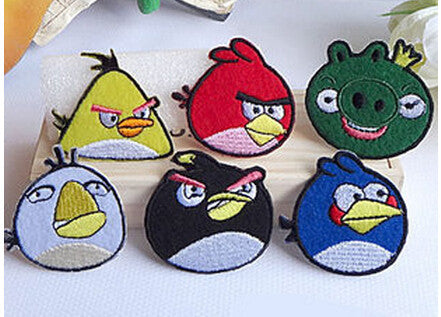 6pc Angry Bird Iron On Patches - KD Connection Official Merchandise Store