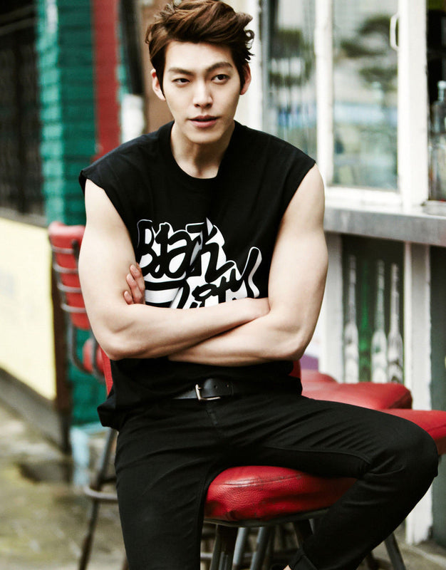 Kim Woo-bin in Muscle Tank Silk Print Poster - KD Connection Official Merchandise Store
