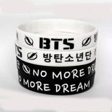 "BTS ""No More Dream"" Support SIlicone Bracelet"