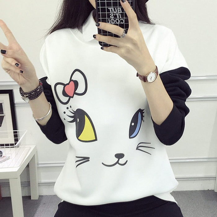 Kitty Kat Sweatshirt w/ Thumb Holes - KD Connection Official Merchandise Store