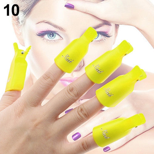 10 Piece Acrylic Nail Soak Off Removal Cap - KD Connection Official Merchandise Store