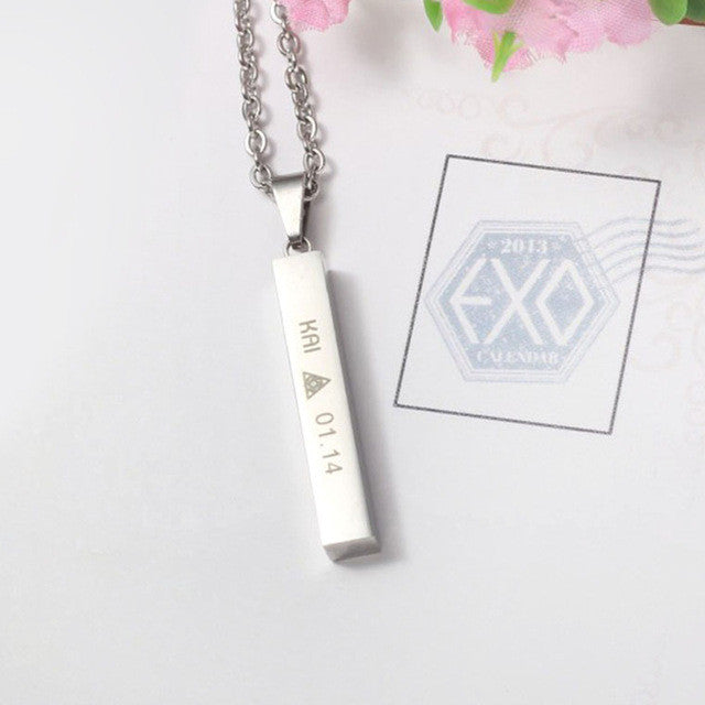 EXO Member Birthday Pendant Necklace - KD Connection Official Merchandise Store