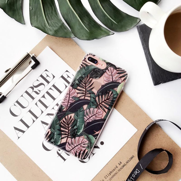 Summer 'Banana Leaves' iPhone Case