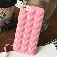 3D Pop Heart Silicone iPhone Case