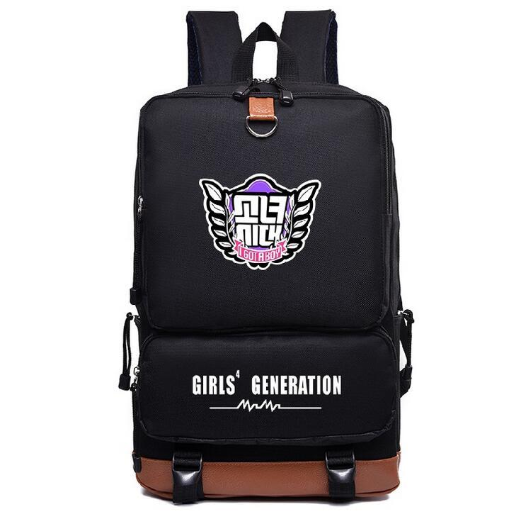 Girls' Generation SNSD Black Backpack
