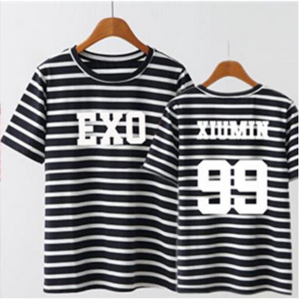 EXO Member Striped Tees - KD Connection Official Merchandise Store