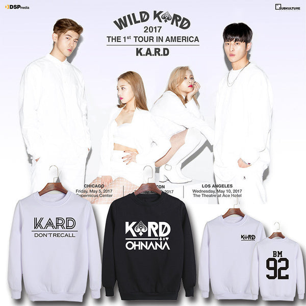 K.A.R.D OHNANA and DON'T RECALL Pullover Sweater Collection