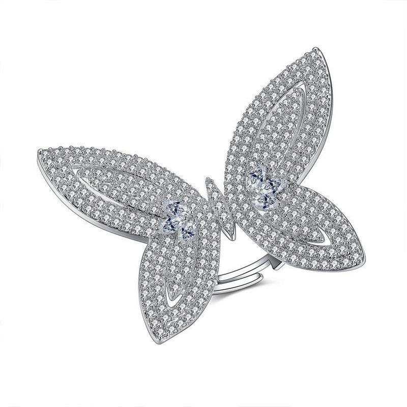Butterfly Crystal Cocktail Ring - KD Connection Official Merchandise Store