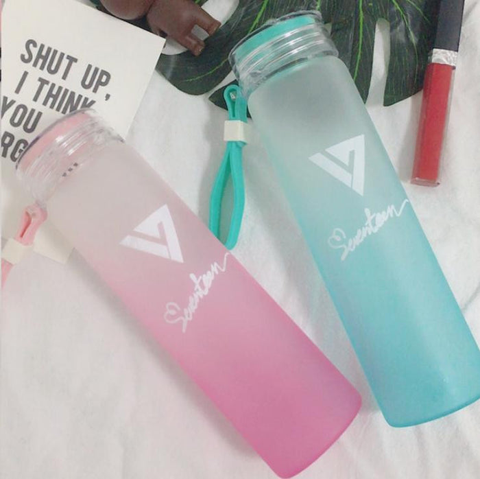 SEVENTEEN Frosted Gradient Water Bottle Collection