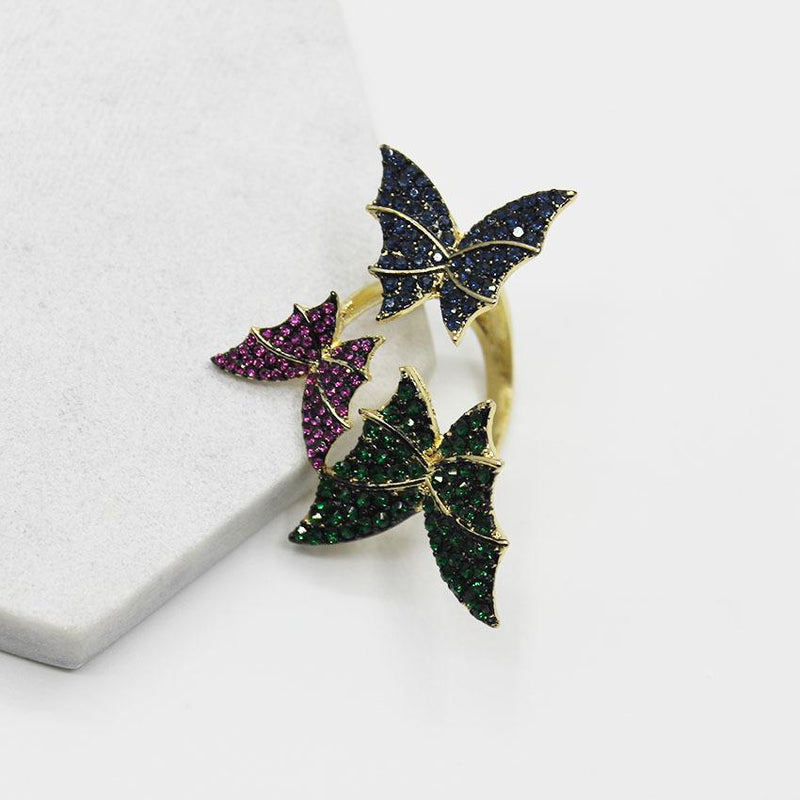 "Butterfly crystal ""Roses"" Ring - KD Connection Official Merchandise Store"