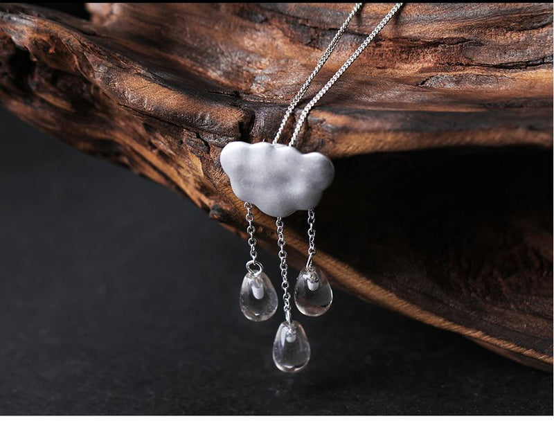 "BTS ""Rain"" Sterling Silver Necklace"