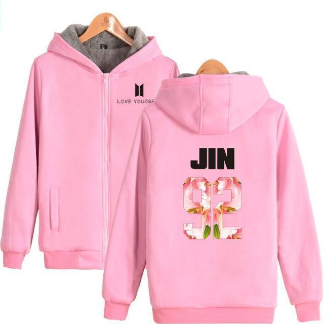 BTS 'Love Yourself' Harajuku Pink Sweatshirt