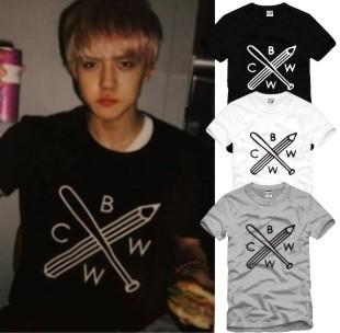 EXO Inspired Short Sleeve Sports Cross Tee - KD Connection Official Merchandise Store