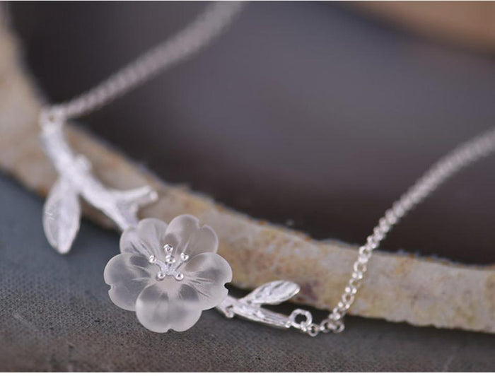 "BTS ""Flower in the Rain"" Sterling Pendant Necklace - KD Connection Official Merchandise Store"