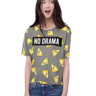 """No Drama"" Pizza Short Sleeve Tee - KD Connection Official Merchandise Store"