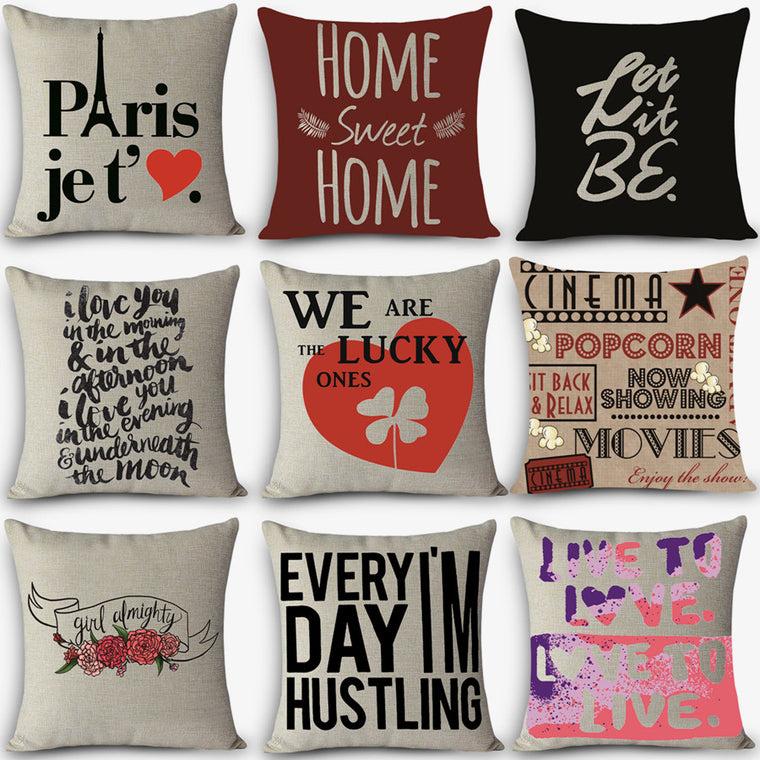 Cute Decorative Sayings Pillow