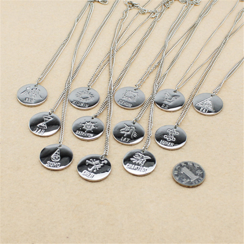 EXO Member Silver Pendant Necklace - KD Connection Official Merchandise Store