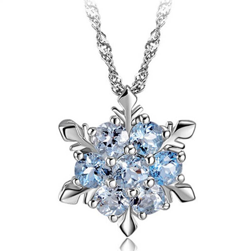 necklace wexford snowflake faceted jewelers silver