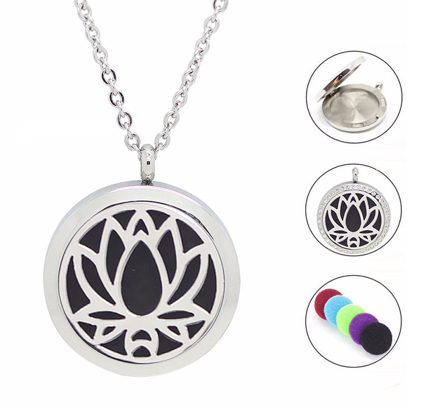 Lotus Flower Diffuser Necklace Charms Of Avalon