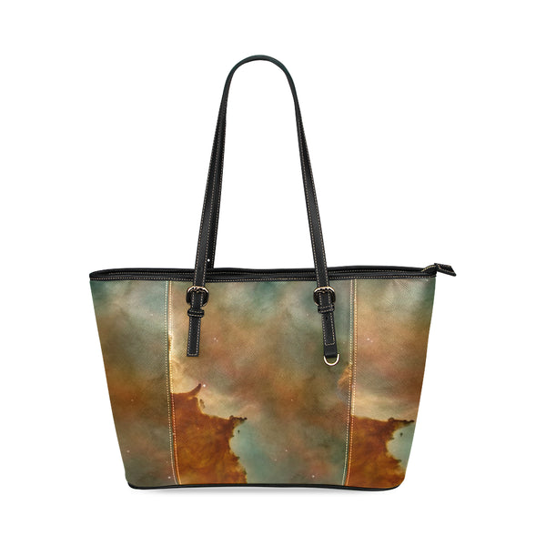 Space Tote Leather Bag (Small)