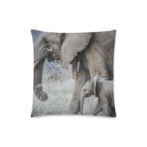 Baby Elephant Throw Pillow Cover