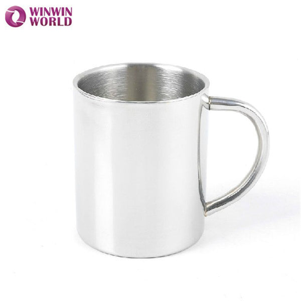 220 ML stainless steel tumbler for coffee drinking mug copos e canecas with handgrip modern style metallic color WW-FC009