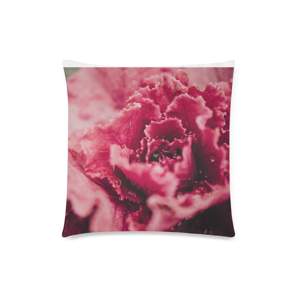 Pink Flower Throw Pillow Cover